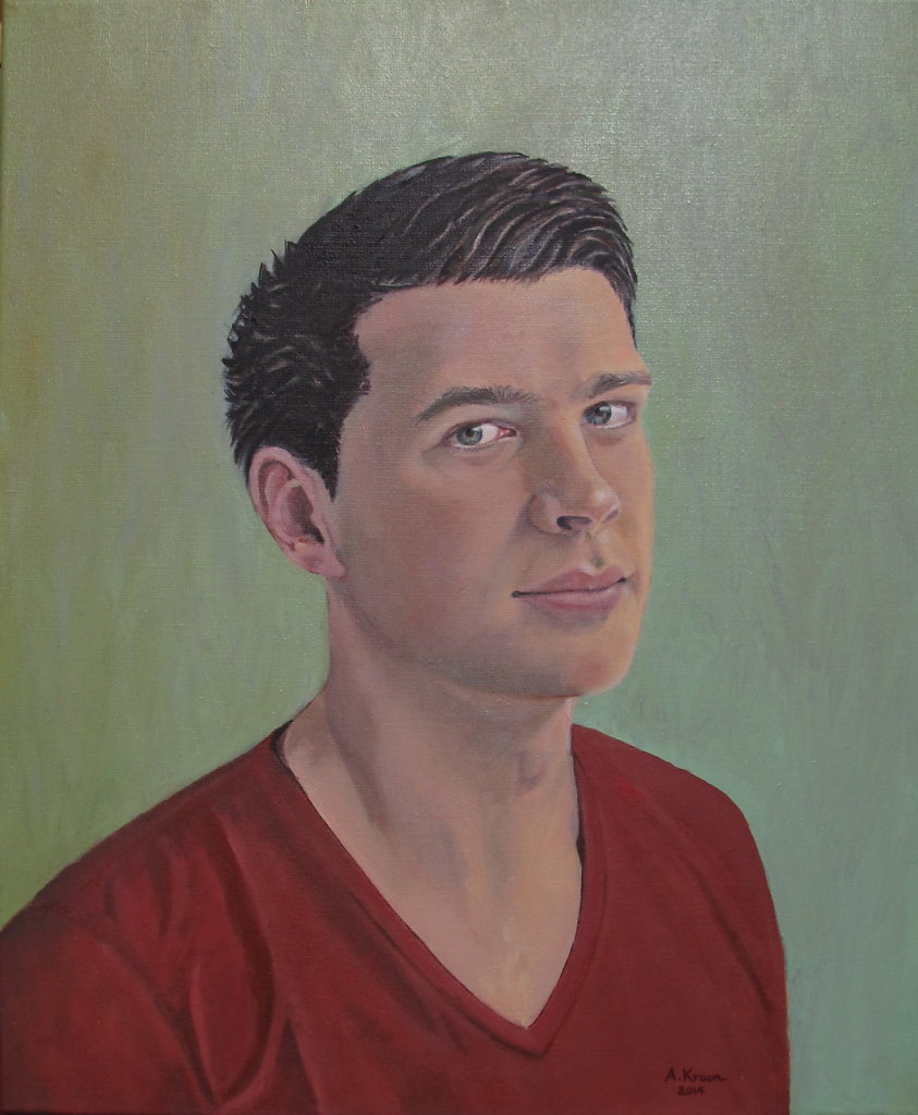 Jurriaan, 50 x 60, olieverf op doek, verkocht